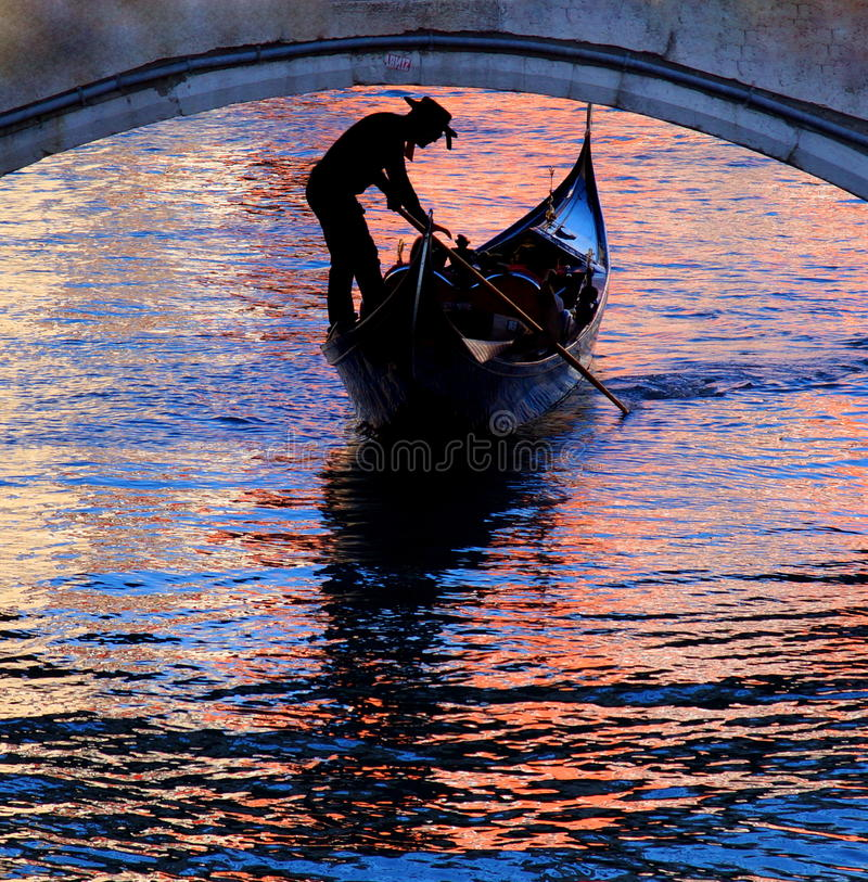 Free Gondola In Venice With Beautiful Colors On The Watersurface Stock Image - 59481911