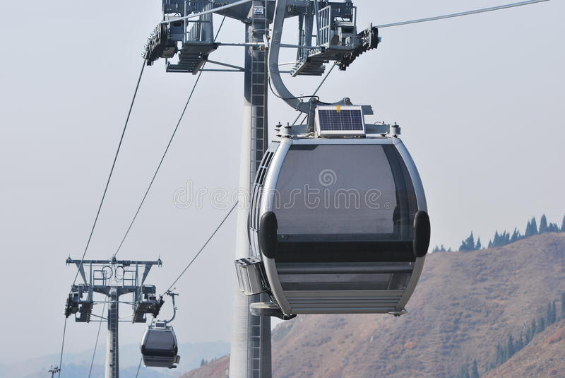 Download Gondola lift stock photo. Image of lift, aerial, urban - 26938924