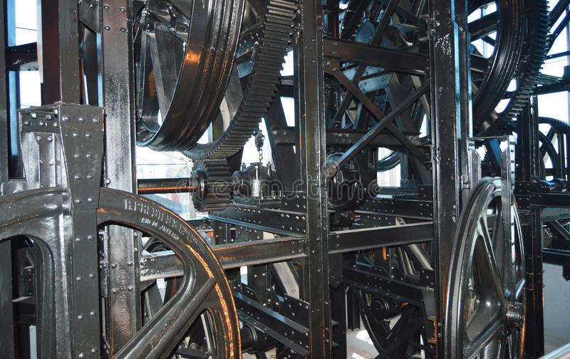 Gondola lift machine royalty free stock photography