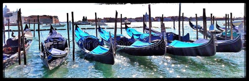 Gondola Line Up royalty free stock photos