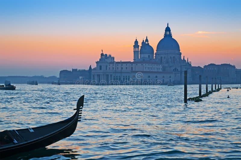 Gondola przy zmierzchem fotografia stock
