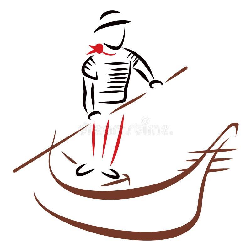 Gondola ride stock vector. Illustration of venetian ...