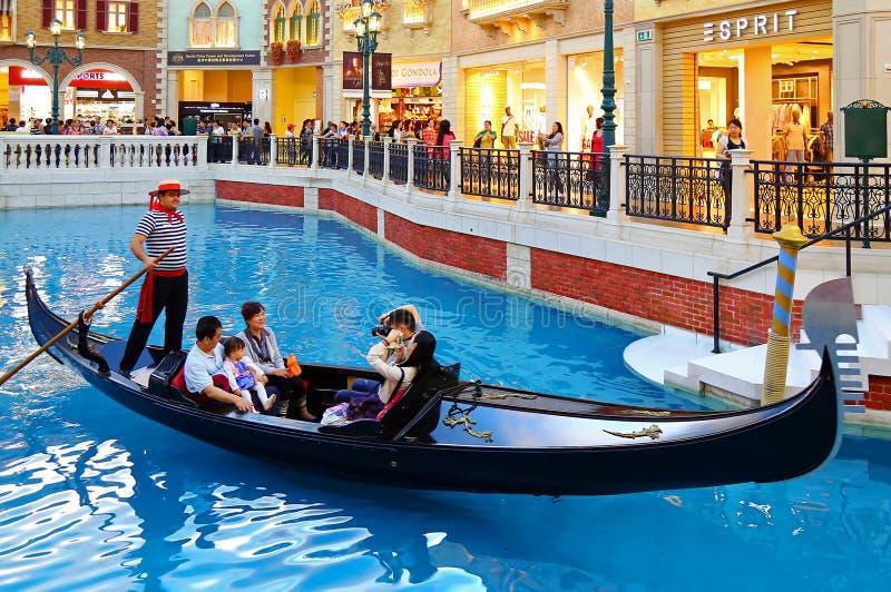 Gondola Ride At The Venetian Macau Editorial Photography - Image of gondola, entertainment: 40200357