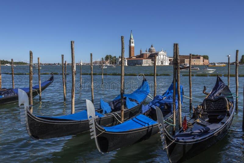 Gondola - San Giorgio Maggiore - Venice - Italy stock photo