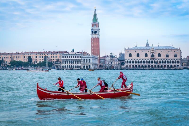 Gondola San Marco, Wenecja, Włochy fotografia royalty free