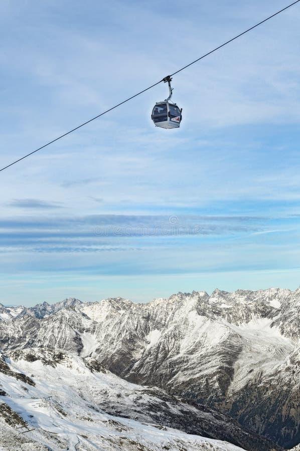 Free Gondola Ski Lift Above Alps Mountains Royalty Free Stock Photo - 17890865