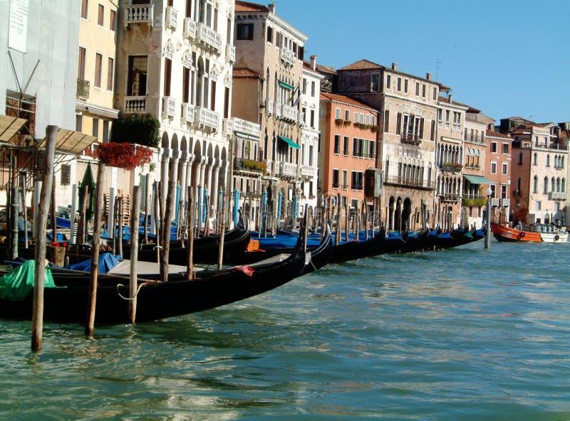 Gondola station. Gondola ststion on the Grand Canal, Venice, Italy royalty free stock photos