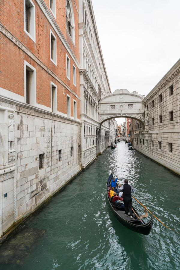 Bridge of Sighs in Venice stock images