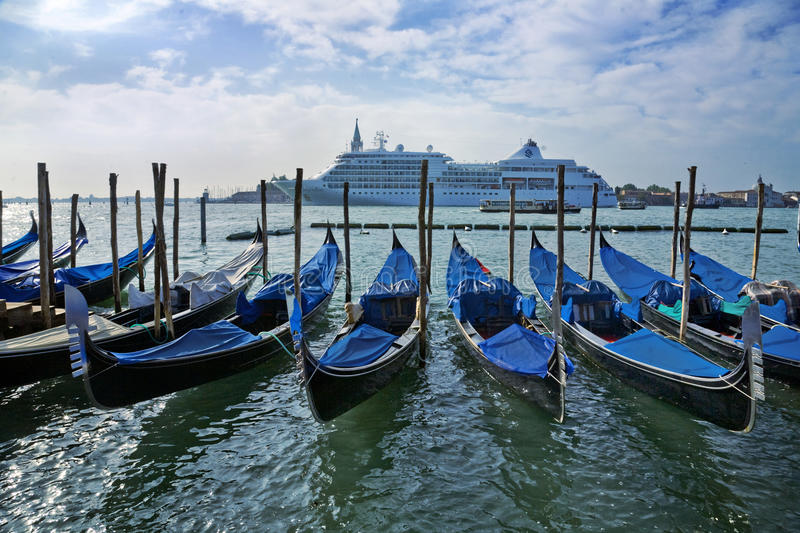 Gondola in Venice Grand Canal royalty free stock images