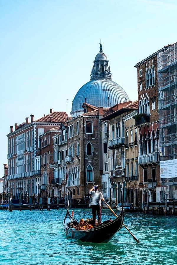 Gondola in Venice. Gondola ride in Venice , Italy royalty free stock photography