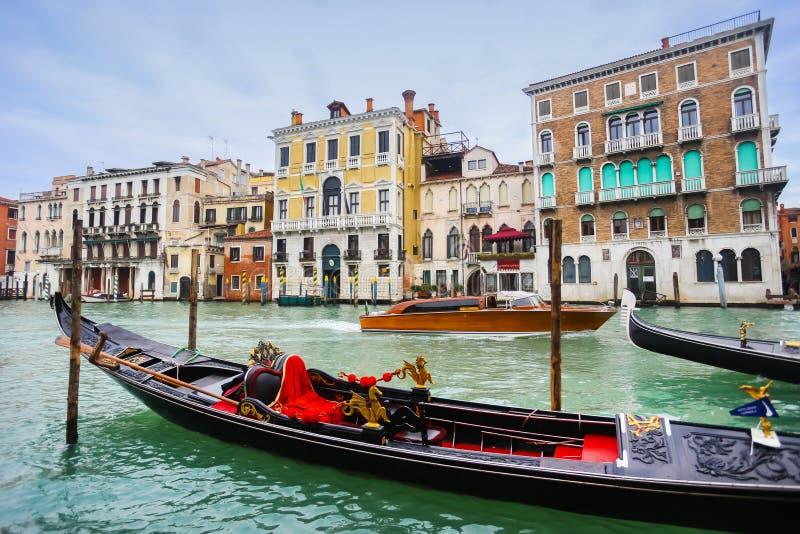Gondola w Wenecja wody kanale obraz royalty free