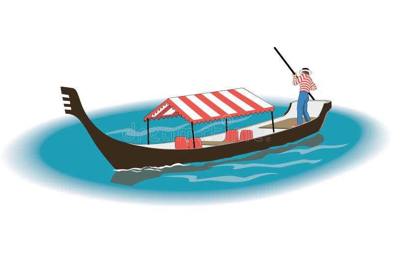 Gondola wektoru ilustracja ilustracji