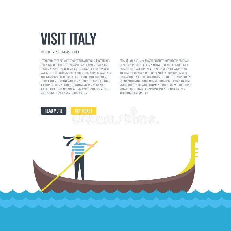 Gondola wektoru rysunek ilustracja wektor