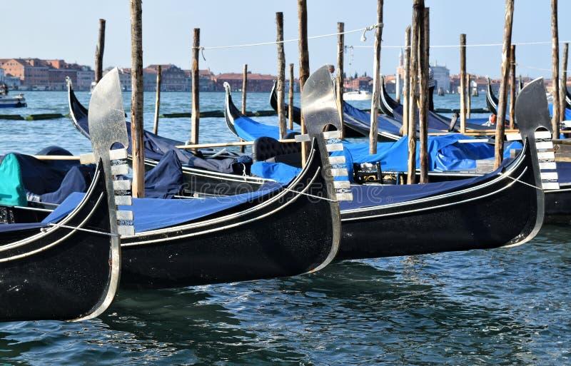 gondolas fotografia stock