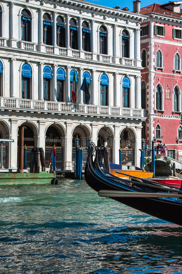 Gondolas in Grand Canal in Venice, Italy royalty free stock photo