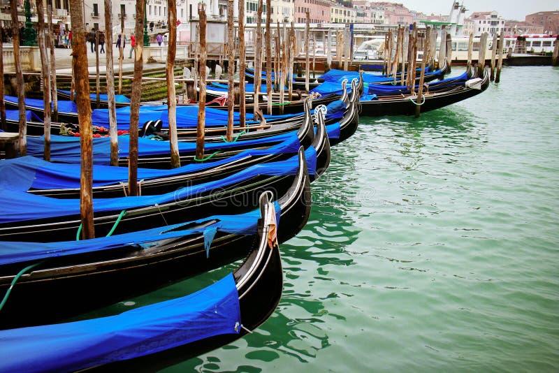 Gondolas in Line stock photo