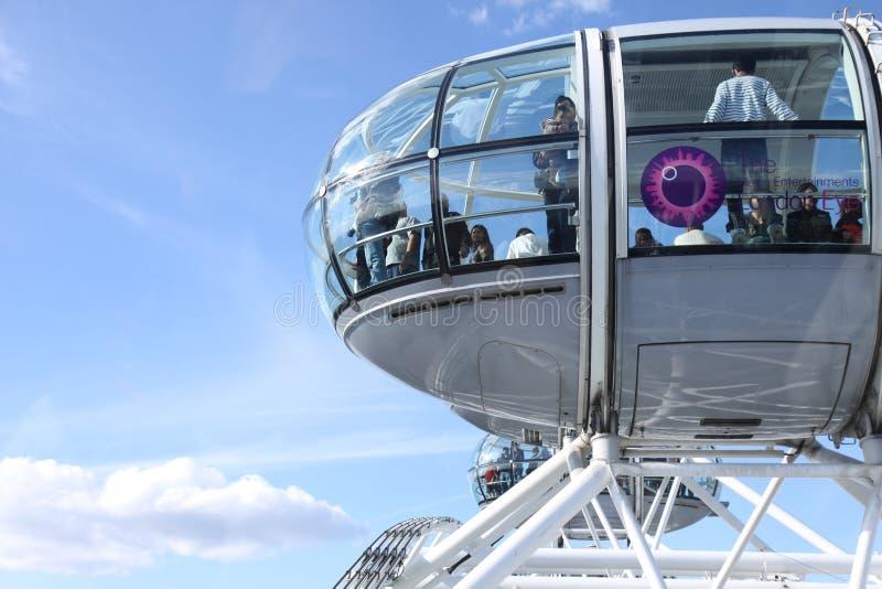 Gondolas of London Eye stock image