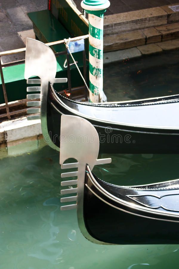 Gondolas prow royalty free stock images