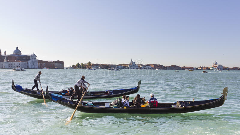 Download Gondolas racing in Venice. editorial photography. Image of traditional - 22485257