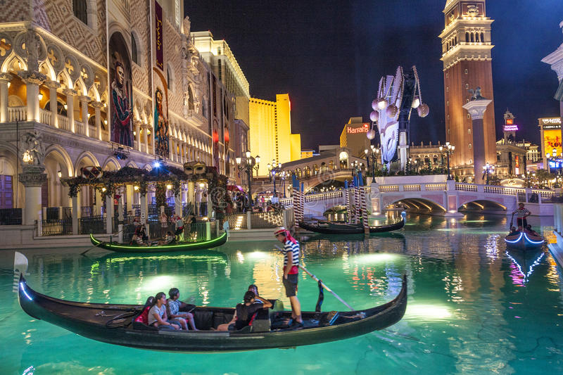 Gondolas at the Venetian Resort royalty free stock photos