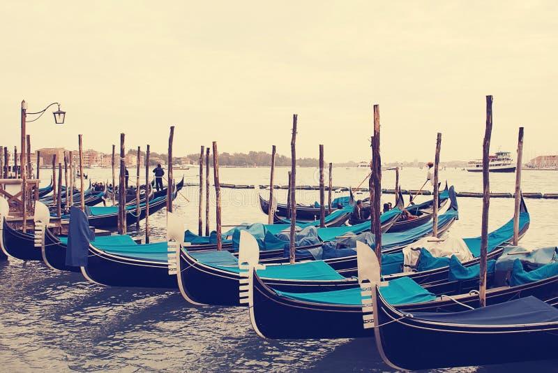 gondolas Veneza Italy imagem de stock