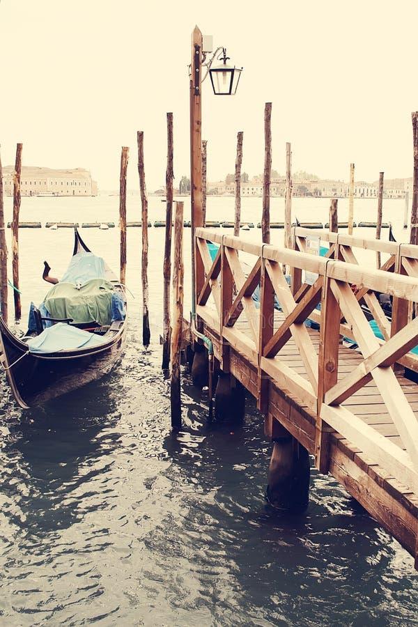 gondolas Veneza Italy foto de stock