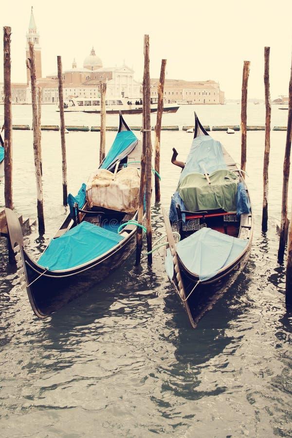 gondolas Veneza Italy imagens de stock