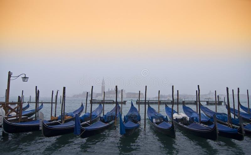Gondolas in Venice stock photos