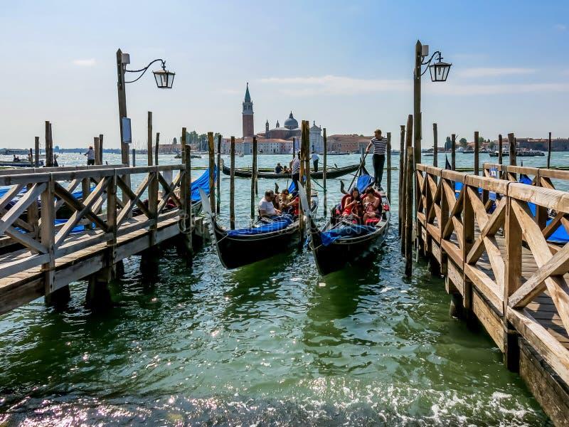 Download Gondolas in Venice editorial photography. Image of venetian - 36485917