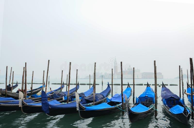 Gondole czekają turystów obraz royalty free