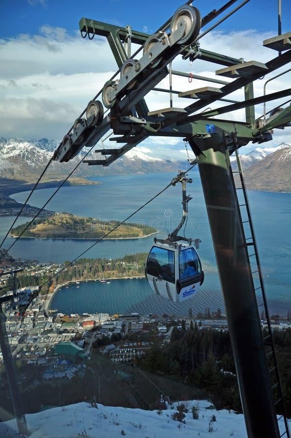 Gondole d'horizon, Queenstown, Nouvelle Zélande photos libres de droits