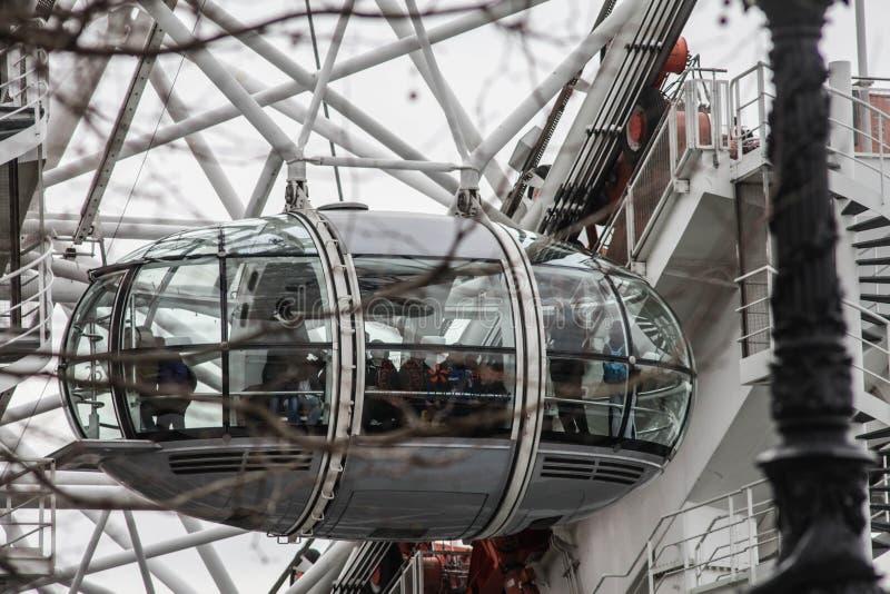 Gondole d'oeil de Londres photographie stock