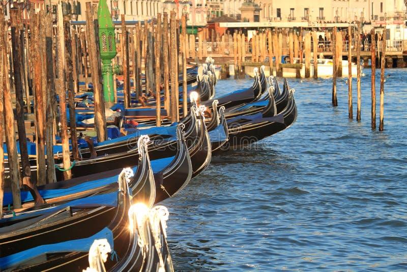 Gondole sul grande canale. fotografia stock