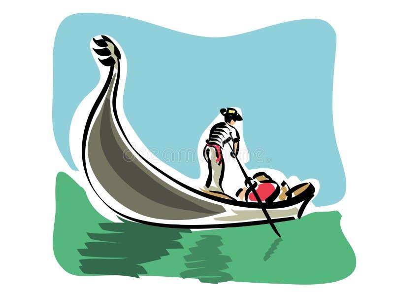 Gondole vénitienne illustration libre de droits
