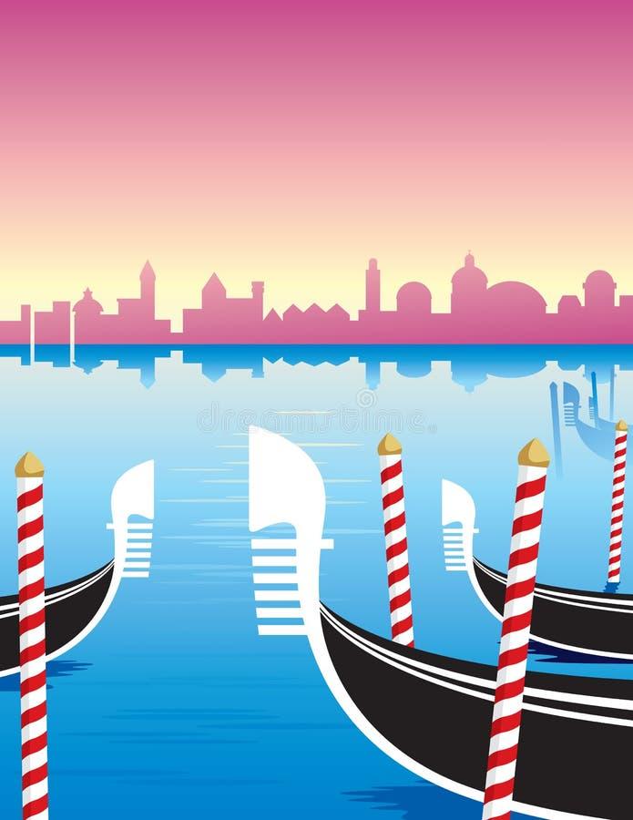 gondole Venice ilustracji