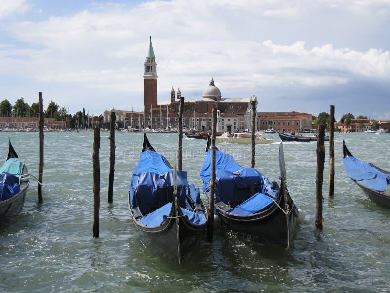 Gondole w Wenecja fotografia royalty free