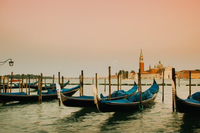 Gondole Wenecja, Venezia, Włochy, Europa zdjęcia royalty free