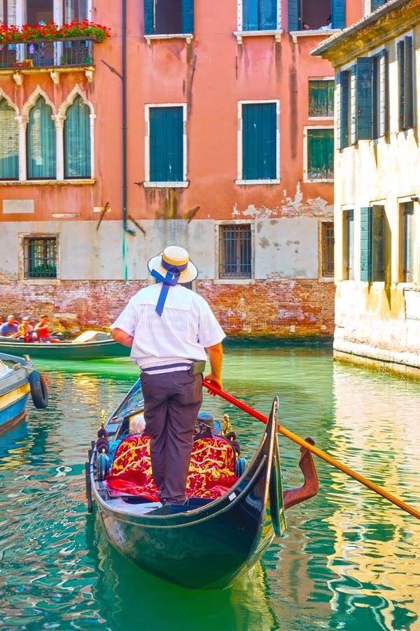 gondolier Βενετία στοκ εικόνα
