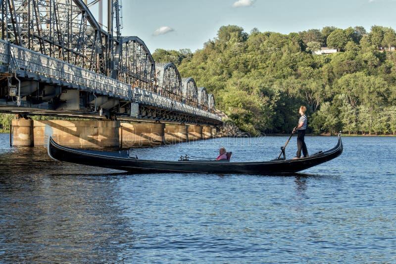 Gondolier του ST Croix στοκ φωτογραφίες