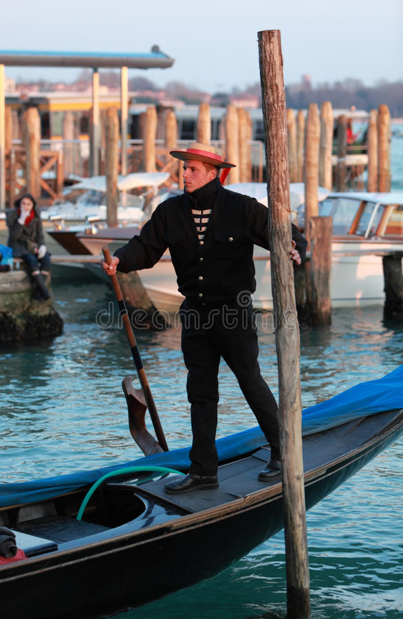 The Gondolier royalty free stock images