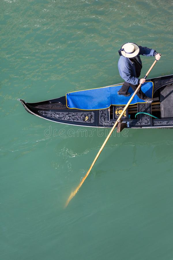 Gondolier From Above images stock