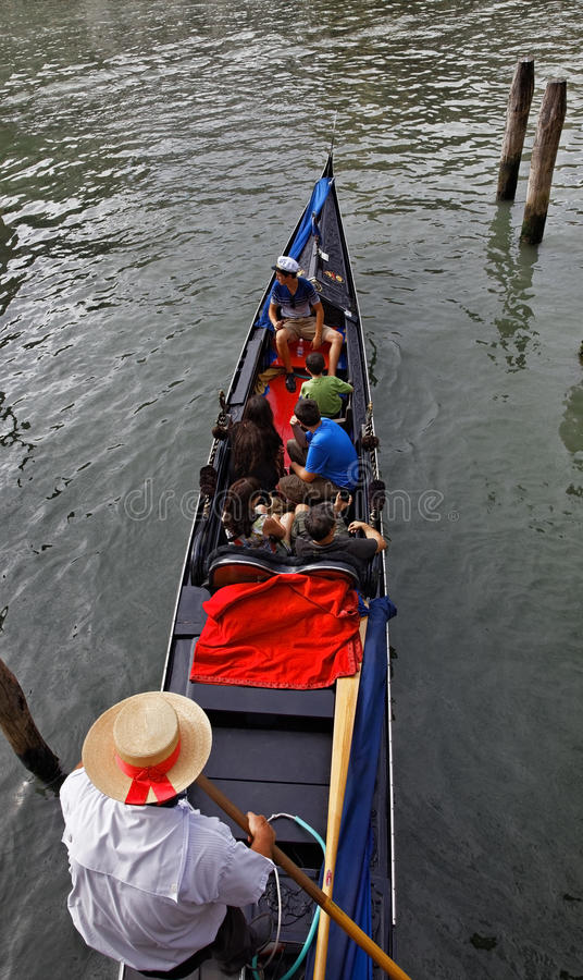 Gondolier with Tourists stock photo