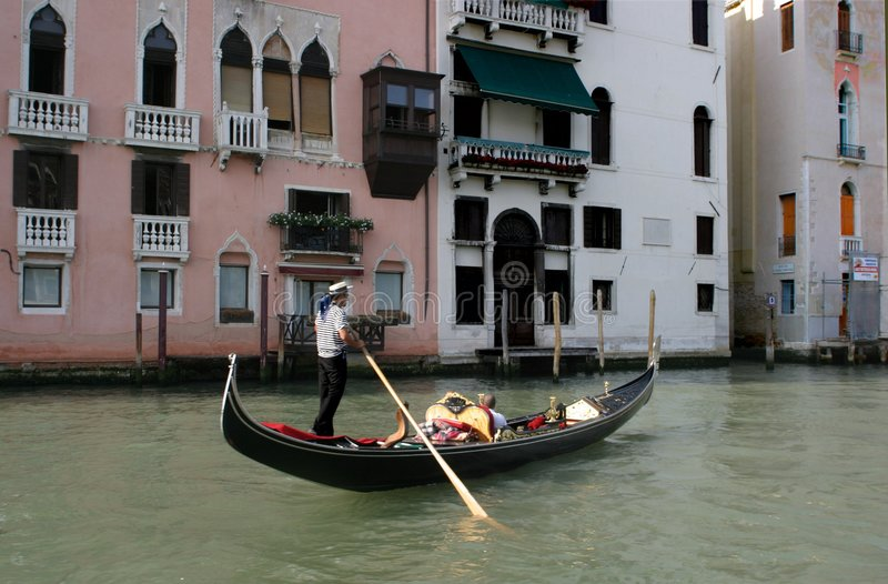 Download Gondolier in Venice editorial stock image. Image of travel - 12499