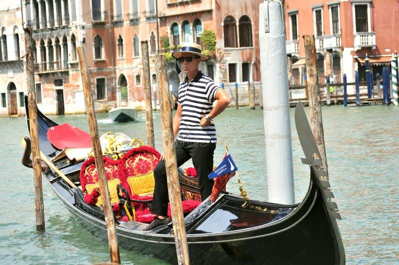 Gondolier in Venice , Italy stock photos