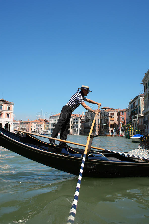 Gondolier working royalty free stock photography
