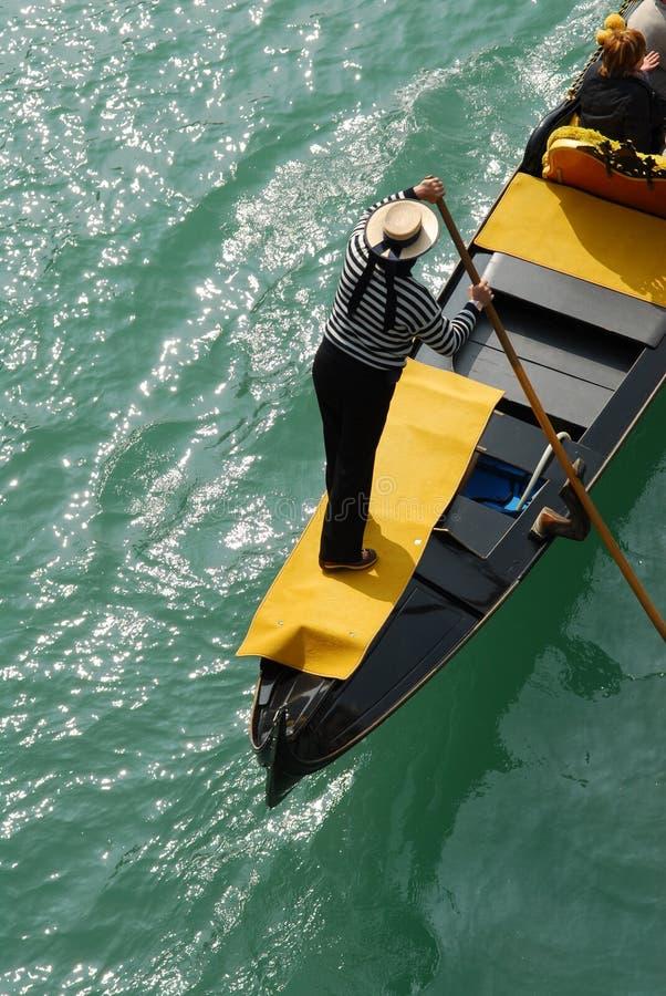 Gondoliere in Venetië stock foto