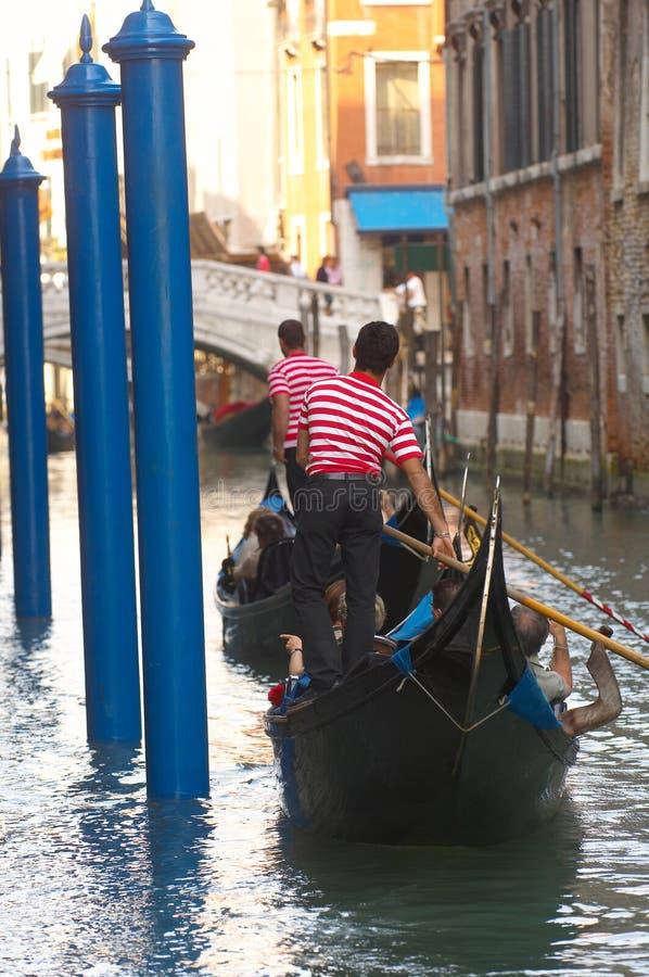 gondoliery Wenecji zdjęcia stock
