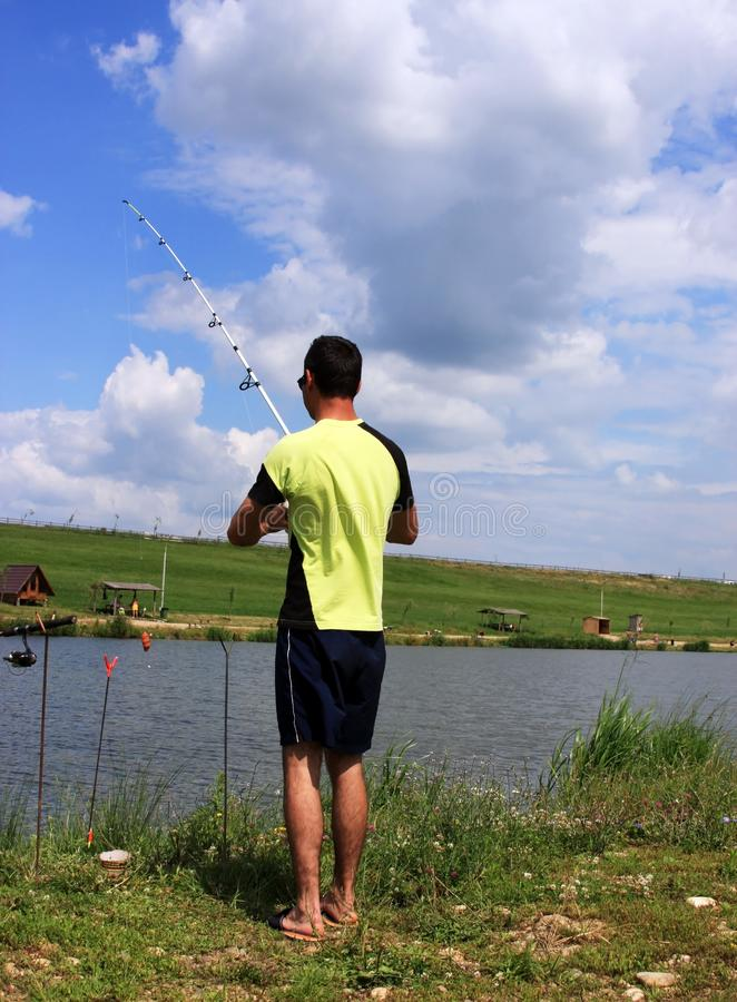 Gone fishing royalty free stock images