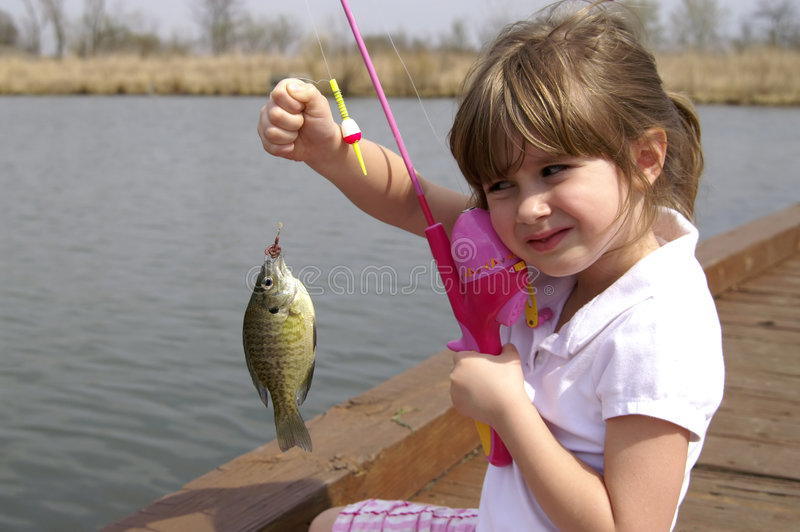 Download Gone fishing stock image. Image of pretty, child, patience - 2239223