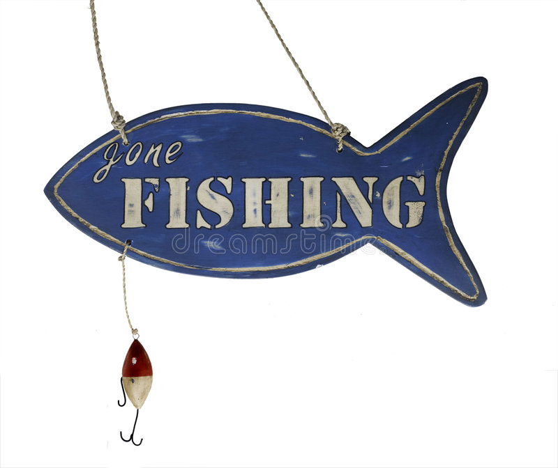 Gone Fishing royalty free stock photos
